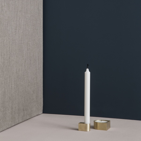 Bilde av Block candle holder brass - small